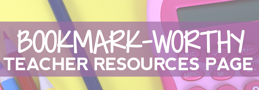 Teachers, stop searching for all the best resources when you can get them all on one page! You definitely need to bookmark this page NOW!