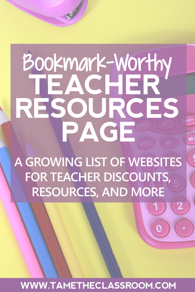 Teachers, the search is over. The best resources for teachers and their classrooms are listed on one page! This is definitely a bookmark-worthy teacher resources page.