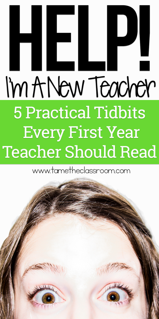 Don't let the pressures of being a first year teacher get to you. Here's some advice to help you tame being a new teacher | Tame the Classroom
