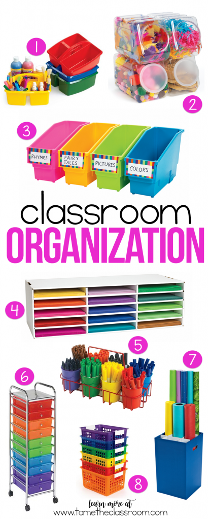 If you are looking to up your classroom organization game, here are few products that might lead you in the right direction. | Tame the Classroom