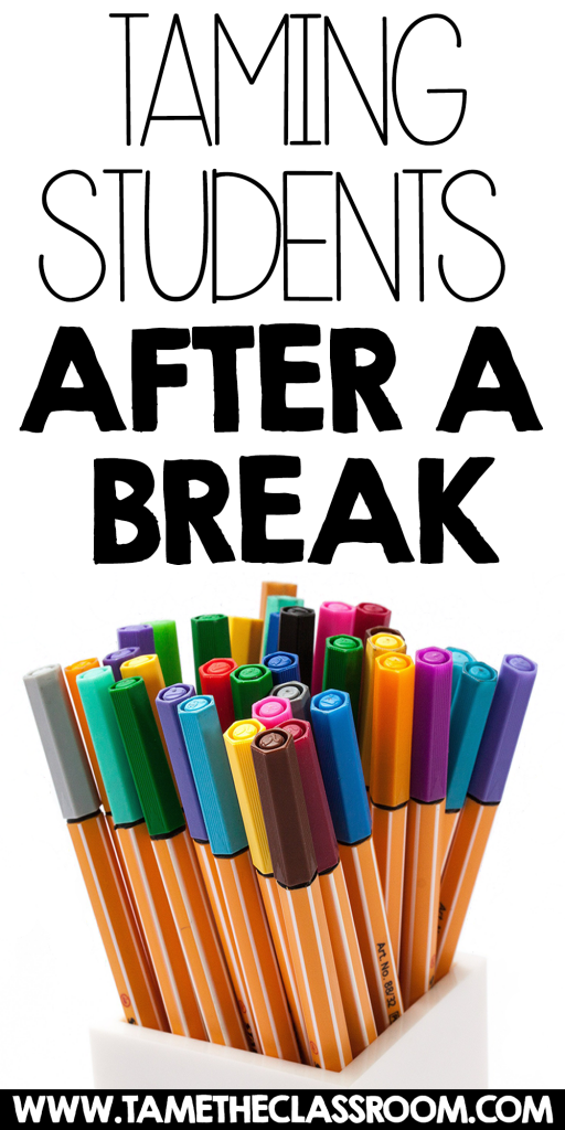 After a break, it can be a challenge for teachers to get students to refocus and jump back into the routine of school. Here are some tips for taming your students after a break.