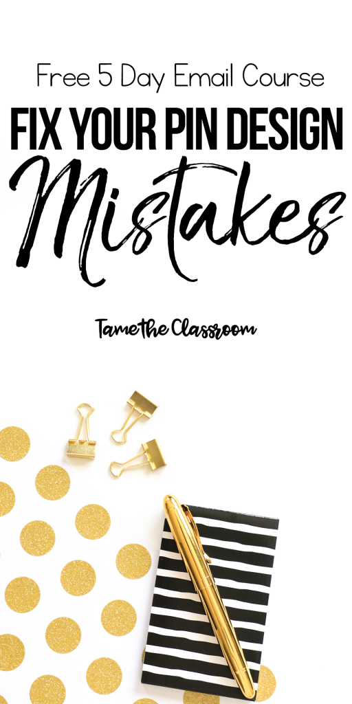 Need a little help fixing your pin design mistakes? Enroll in this FREE 5 day email course and get on the road to making better pins. #pinterest #pinterestdesign #bloggingtips