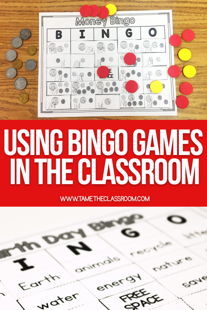 Did you know that using bingo games in the classroom can be a fun way to review? Here's how I use bingo games in my classroom…and you can do the same. Trust me, your students will beg you to play! #bingo #mathgames #literacygames #tpt #classroomideas #lessonideas