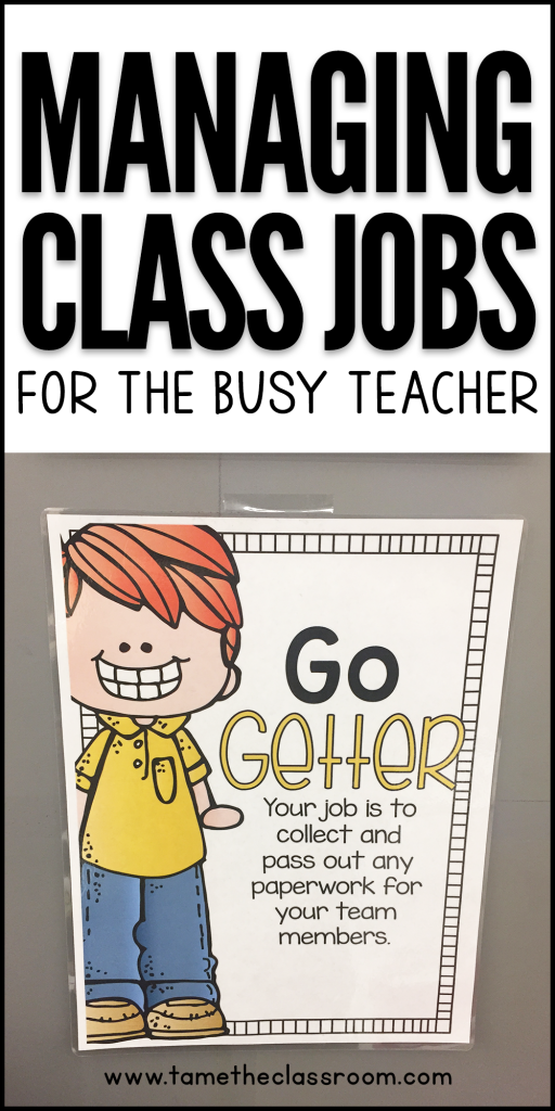 During my first year of teaching, I had about 12 or 14 class jobs and I changed them each day. I did a great job with that until I started forgetting! Teachers are busy with a million things each day. Make classroom jobs one of the things you DON'T stress about! #classjobs #classroomjobs #teachingtips #teachingideas #classroommanagement #classroomjobselementary