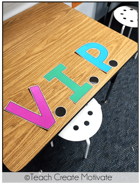 VIP tables can be done in so many ways, but the idea is that you recognize a student who has displayed positive behavior by seating them at special desk area in your classroom. Here are a few inspiring VIP tables for the classroom. #behaviormanagement #classroommanagement #viptable #viptables #vibdesk #vipdesks #classroomideas