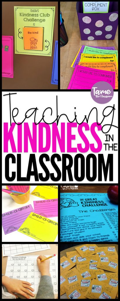 Teaching kindness in the classroom is important no matter what grade you teach. Here are a few ideas to promote kindness in your classroom. #classroommanagement #kindness #kindnessactivities #kindnessactivitiesforkids #kindnessclassroom #kindnessrocks #kindnessinclassroom #kindnessinschools #classroomideas