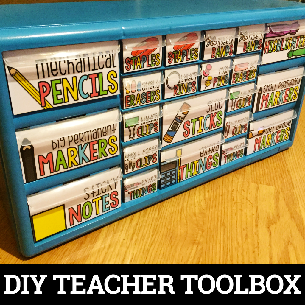 Learn how to make your own teacher toolbox with this DIY tutorial. | Tame the Classroom